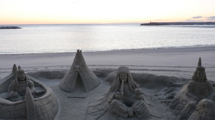 Sand Sculptures on the Beach in Fuengirola